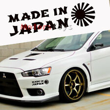 1x Made In Japan Rising Sun Car Body Window Bumper All Black Vinyl Decal Sticker