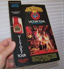 Vintage 1984 THE JACKSONS VICTORY TOUR Video Music Wrist Watch Michael Jackson