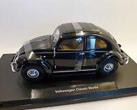 """VW-Käfer, """"Brezel""""-Fenster, schwarz 1:18, WELLY"""