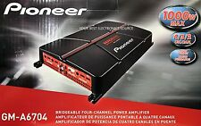NEW Pioneer GM-A6704 4-Channel Bridgeable Class AB 2-Ohm Stable Car Amplifier