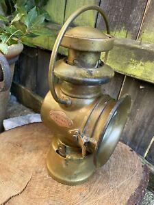 ANTIQUE Edwardian BROWN BROTHERS Ltd VEENA CAR LAMP vehicle brass light road