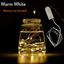 1X 2M 20 LED Copper Wire String Fairy Light Battery Powered Warm White For DIY