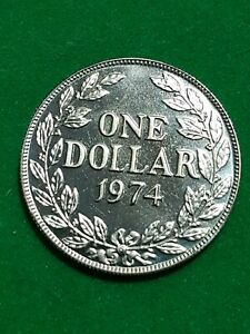 LIBERIA  One Dollar   1974   Nickel  Proof