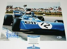 JACKIE STEWART FORMULA 1 LEGEND HAND SIGNED 11x14 PHOTO 3 BECKETT BAS COA PROOF