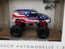 1/87 Busch Dodge Ram Van Monstertruck Stars and Stripes 44657