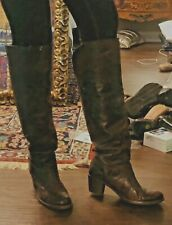 Frye Knee High Vintage Cool Distressed Whiskey Brown Leather Boots. Very Cool!!!