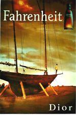 Original vintage poster DIOR FAHRENHEIT PERFUME SAILOR c.2000