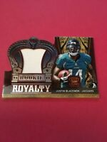 Justin Blackmon Jaguars 2012 Crown Royale Rookie Royalty Materials#17 47/149