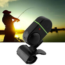 LED Light Electronic Fish Bite Strike Alarm Bell Alert Clip-On Fish Rod Pole New
