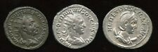 Lot of 3 - Mid 3rd Century Emperors. AR Antoninianus.