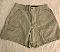 "Columbia Size 8 Women's Hiking Shorts Lt Tan Khaki 5"" Inseam Cotton Cargo Pocket"