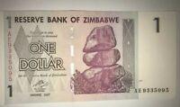 ZIMBABWE $1  DOLLARS NOTE. UNCIRCULATED.