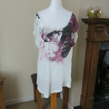 Firetrap London Ivory/mauve/black top size S Immaculate