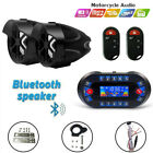 Motorcycle Anti~Theft Speakers USB Audio System Stereo Bluetooth Remote