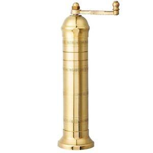 Brass Salt mill Alexander Greek  #108   8'