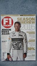F1 Racing Magazine for the Month of March 2016. Excellent Condition