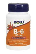 Now Foods Vitamin B6 50 MG 100 Tabletten