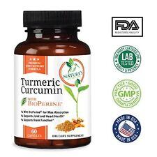 Tumeric Curcumin Max Potency With Bioperine Black Pepper 1800 Mg 60 Capsules USA