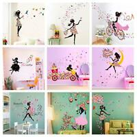 Flower Girl Removable Wall Art Sticker Vinyl Decal Kids Room Home Mural Decor ❤