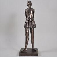 Degas Dancer Bronze Ballet Statue Sculpture Ornament Girl Standing Gift 01024