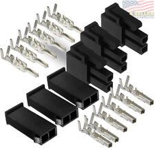 Molex 2-Pin Black Connector Pitch 4.20mm, w/18-24 AWG Mini-Fit Jr (3 Match Set)