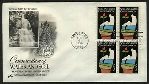 #2074 20c Soil & Water Conservation-Blk 4, Art Craft FDC ANY 4=