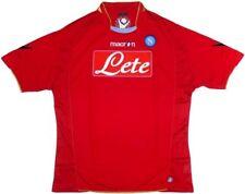 NAPOLI 2009/10 3rd KIT MACRON RED (XL,L) SH&LNG SLVE FOOTBALL SOCCER SHIRT ITALY