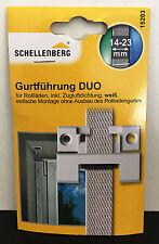 Schellenberg 15203 Gurtführung DUO rechteckig 14-23mm,weiß,inkl. Zugluftdichtung