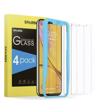 Sparin Screen Protector For Iphone Xr, [4 Pack] Tempered Glass Screen Protector