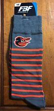 NWT FBF Originals Baltimore Orioles Mens Thin Stripes Socks Size Large 10-13