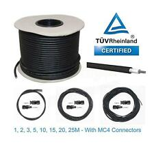 Solar Panel PV Cable DC Rated 4mm² & 6mm² with MC4 Connector Plugs Crimp Wire