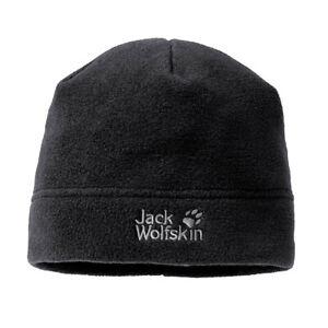 Jack Wolfskin Vertigo Mens Adult Winter Outdoor Fleece Beanie Hat Black