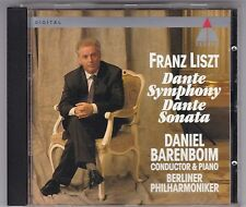 FRANZ LISZT - DANTE SYMPHONY/DANTE SONATA CD DANIEL BARENBOIM TELDEC © 1994