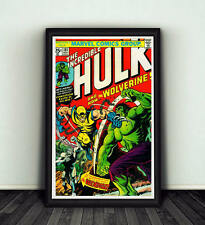 11x17 Incredible Hulk #181 Comic Book Cover Replica Poster Marvel Wolverine