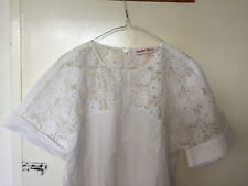 See By Chloe White Lace Blouse