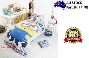 Despicable Me single bed Minions LICENSED QUILT DOONA COVER SET + PILLOWCASE