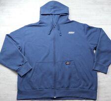 Men's Genuine Dickies Hooded Blue Sweatshirt Full Zip Jacket - Size 2XL