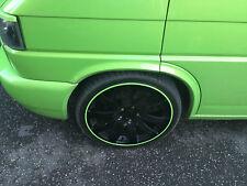 LIME GREEN SCUFFS by Rimblades Car Alloy Wheel Rim Protectors Tyre Trim 4Line