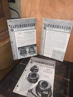 The General Radio Experimenter Magazine 1946, 3 Issues!