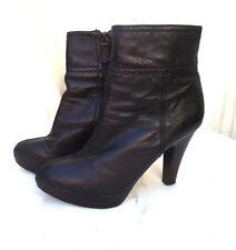 bottines low boots ZARA p 38 à plateau cuir noir TB  ETAT PROMO