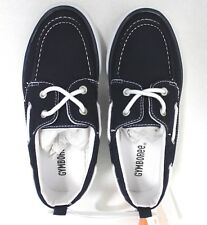 Gymboree Boys' Navy Canvas Slip-On Boat Shoes Size 2 NEW no box