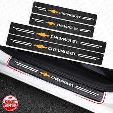 4x Chevrolet Car Door Plate Sill Scuff Anti Scratch 3d Decal Sticker Protector Fits 2012 Chevrolet Cruze Lt