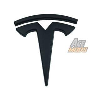 Matte Black Tesla Logo Car Door Fender Trunk Emblem Badge for Tesla Model X 3 S