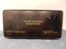 Vintage Metal Route Records Collections, Appeal-Democrat, Marysville, Yuba City,