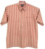 Yarra Trail Men's Shirt Size L Short Sleeve Button Up Striped Casual