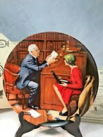 "Norman Rockwell Plate ""The Professor""  NIB"