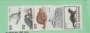 DENMARK Sc 580-4 NH issue of 1975 - BIRDS - ANIMALS