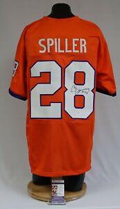 CJ SpillerSigned Clemson Tigers XL Football Jersey JSA R99620 Bills Saints Jets