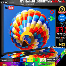 "TEAC 49"" Inch FHD SMART TV Netflix Youtube WIFI PVR APPS Opera  Made Europe 3Yr"