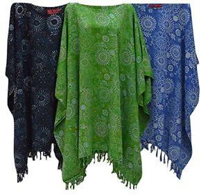 Embun Snowflake Ladies Kaftan Top T-shirt Poncho Plus Size Curvey Dress Maxi New